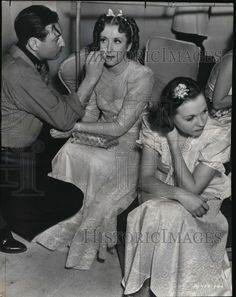 "Gracie Allen between takes on ""College Swing"" Allen Show, George Burns, Comedy Duos, We Missed You, Vintage Hollywood, Funny People, Comedians, The Past, Mary"