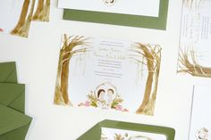 katie wilson's sandy-tom illustrated wedding stationery by @jollyedition