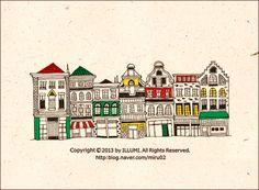 펜일러스트-유럽풍건물그리기 : 네이버 블로그
