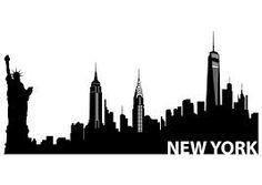 silhouette of new york pinterest skyline silhouette city rh pinterest com nyc skyline clipart free new york city skyline clipart