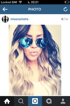 """Indian hair by Chierah hair & beauty  ice blond ft black  Used inches  24 22 20 18 """""""