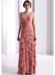 Sheath/Column Pink Mother Of The Bride Dresses