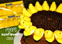 Peeps Sunflower Cake - Two Maids a Milking