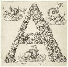 Letter A, Jeremias Falck, anoniem, ca. 1645 - ca. 1650