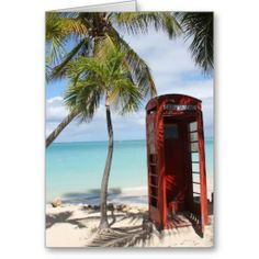 Rote allgemeine Telefonzelle auf Antigua Karten #zazzle #Fotogeschenk