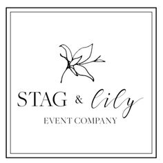 Logo Design for Stag & Lily Event Company   Lemon and the Sea: Luxe Boho Chic brand and  custom Squarespace website for event planner in Richmond, VA. Earthy, classic, sophisticated to reach both brides and grooms.
