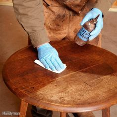 Before you start any repairs or touch-up, wipe on mineral spirits to help you decide what your next steps should be. The mineral spirits temporarily saturates the finish to reveal how the piece of furniture will look with nothing more than a coat of wipe-on clear finish. Don't worry; this won't harm the finish. If it looks good, all you have to do is clean the surface and apply an oil-based wipe-on finish. If the surface looks bad even when wetted with mineral spirits, you'll have to take…