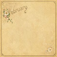 February Background