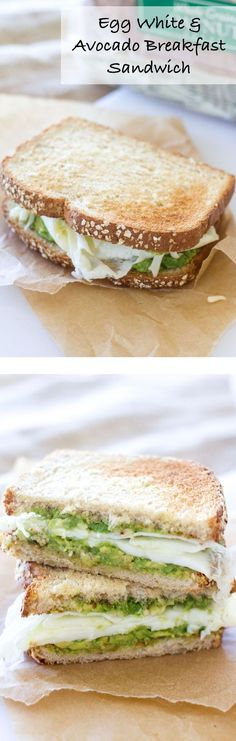 This protein packed breakfast sandwich is the perfect way to start the morning!