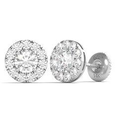 Véritable 0.25 Ct Round Cut Jaune Diamant Clous d/'oreilles or 14k à 6 broches Screwback