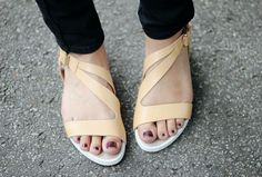 nude sandals.