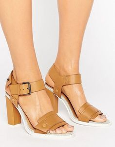 fc4b2a34f0d G Star G-Star Claro Tan Leather Heeled Sandals Nude Heeled Sandals