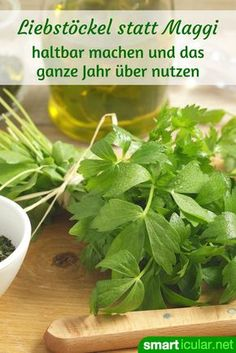 Statt Maggi: Liebstöckel-Speisewürze selber machen Forget artificial Maggi seasoning in bottles – with these recipes you can preserve the fine lovage aroma and use it for seasoning. Maggi Recipes, Greek Recipes, Gourmet Recipes, Healthy Recipes, Cooking Chef Gourmet, Kenwood Cooking, Ginger Sauce, Party Buffet, Diy Food