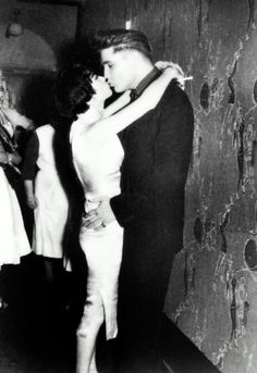Backstage with a female admirer at the Moulin Rouge, situated at Herzogspitalstraße 6 in München (Munich), Bavaria, Germany - Thursday, March 5, 1959