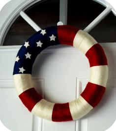 DIY Wreath for Memorial Day or July 4th