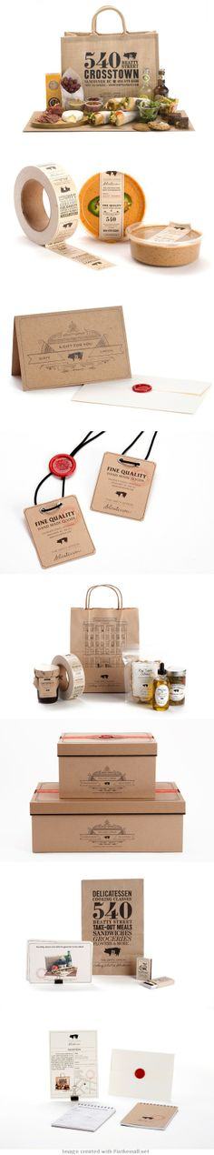 The Dirty Apron Delicatessen | Branding via Behance