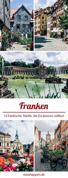 14 Städte in Franken, die Du gesehen haben solltest 14 cities in Franconia that you should have seen – have Wakeboarding, Places To Travel, Places To See, Camping Places, Wonderful Places, Beautiful Places, Travel Around The World, Around The Worlds, Travel Tags