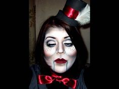 Great halloween make-up idea. Puppet.