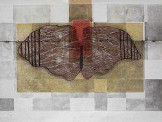 Alas, 2005,   Víctor Guadalajara, Aguatinta, barniz blando, punta seca, chine collé y relieve,  58 x 78 cm.  Edición 99.
