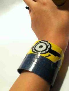 Duct Tape City: Despicable me: Minion bracelet