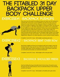 31 Day Backpack Upper Body Challenge