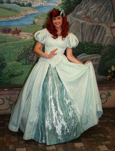 My Matron of honor will be Ariel in her sea foam dress , featured in Disney World.