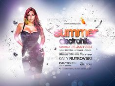 Summer Electro Hits Flyer Template - http://www.ffflyer.com/summer-electro-hits-flyer-template/ A summer flyer made to fit any purpose such as a concert, festival, gig, rave, party, club event or any event you can think of, and it's absolutely great for a weekly event or one off event! You can easily edit the text.  #Club, #Edm, #House, #Lounge, #Party, #Sexy, #Summer