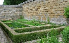 The herb garden in the recreated monk& cell at Mount Grace Priory… William The Conqueror, English Heritage, Herb Garden, Stepping Stones, Medieval, Castle, England, Gardens, Herbs