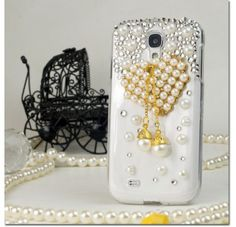 For Samsung Galaxy S4 i9500 - 3D Design Full Diamond Protectors - Ornaments FPD3D Case Cover Protector