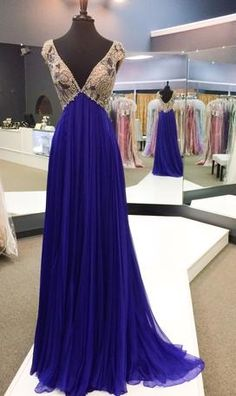 In Stock Pageant Gowns - 43734 Custom Pageant Gown Purple chiffon Blue Emire Beaded Sherri Hill