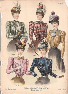 Fashion Plate - The Delineator, June 1898
