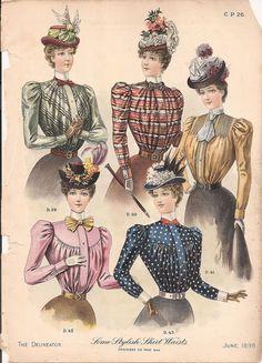 Fashion Plate - The Delineator, June 1898