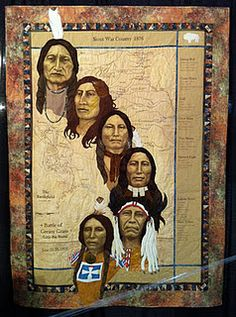Patsy Heacox of Green Valley AZ does exhaustive historical research before creating her series of Native American portrait quilts