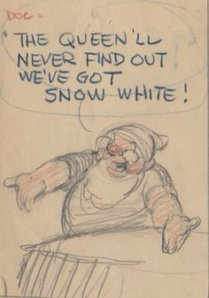 Storyboard Drawing from Snow White And The Seven Dwarfs