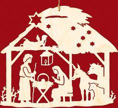 Taulin Fensterbild Weihnachten Christgeburt im Haus Christmas Nativity, Christmas Wood, A Christmas Story, Diy Christmas Ornaments, Christmas Projects, Christmas Holidays, Christmas Decorations, Kirigami, Nativity Silhouette