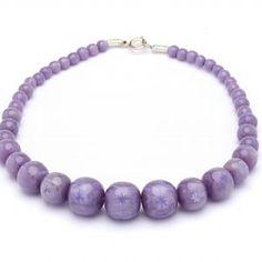 Splendette Carved Fakelite Beads Lilac