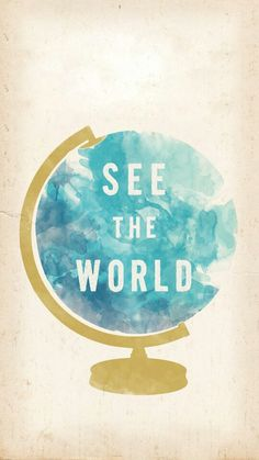 See the world - wallpaper from Line Deco