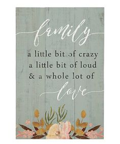 Look what I found on #zulily! 'Family Love' Wall Sign #zulilyfinds