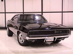 Dodge Charger Classic Black Car Wallpaper