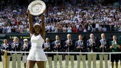 Serena Williams raises the Venus Rosewater Dish        Watch video:  Wimbledon 2015 women's singles final. Serena Williams vs. Garbine Muguruza. 2nd set. ... 21  PHOTOS        ... Serena Williams sealed her dominant position in the tennis world, beating young raising star, Spaniard Garbiñe Muguruza 6-4, 6-4. Is there any stopping Serena?        Read original article:         http://softfern.com/NewsDtls.aspx?id=1025&catgry=9            #SoftFern Sport News, #Serena Slam, #Serena Williams…