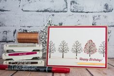 Stampin' Up! UK Feeling Crafty - Bekka Prideaux Stampin' Up! UK Independent Demonstrator: Totally Trees Colour Challenge Birthday Card Made Using Stampin' Up! UK Supplies
