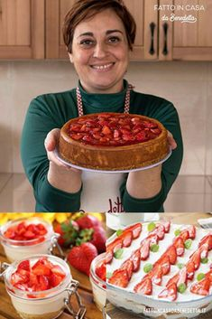Italian Desserts, Italian Recipes, Kitchen Recipes, Cooking Recipes, My Favorite Food, Favorite Recipes, Kinds Of Desserts, Blueberry Recipes, Savoury Dishes