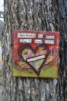 Canvas Mixed Media Song of Solomon 34 by hodgepodgebycarley, $38.00
