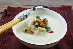 Corn Soup With Prawn Salsa @ preppings.com