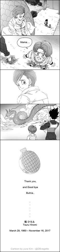 Vegeta and Trunks say Goodbye to Bulma (RIP Hiromi Tsuru)
