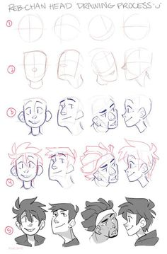 Faces poses hair references positions expressions character design inspiration