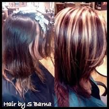 Red & Blonde highlights! | Hair Ideas | Pinterest | Red ...