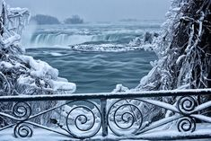 Horseshoe Falls - It's So Cold In North America That Niagara Falls Is Frozen, And It Looks Like Something From Narnia Niagara Falls Frozen, Visiting Niagara Falls, Narnia, Niagara Waterfall, Destinations, World Images, Amazing Nature, Nature Photos, Vacation Spots