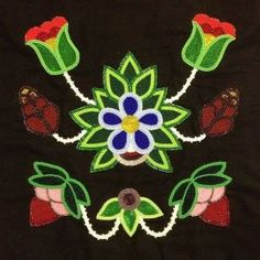Ojibwe Floral Art Anishinaabe Art Cultural Fest features art of the Ojibwe Sawyer Applique Patterns, Loom Patterns, Flower Patterns, Beading Patterns, Loom Beading, Indian Beadwork, Native Beadwork, Native American Beadwork, Art Floral