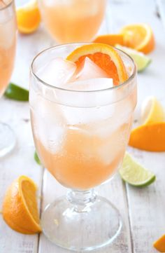 Sangria's not just for summer. Some of my favorite sangrias are actually made with fruit that are in season in the fall and winter months. One of them is this sparkling citrus sangria.  It's made with grapefruit, limes, lemons and oranges... and of course, booze! It's light ...